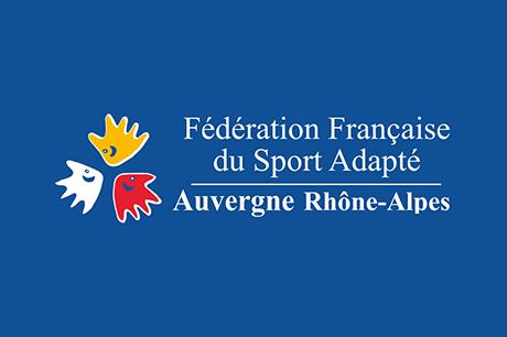 Badge Fédération Française du Sport Adapté Rhone-Alpes Auvergne