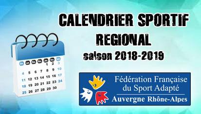calendrier sportif régional