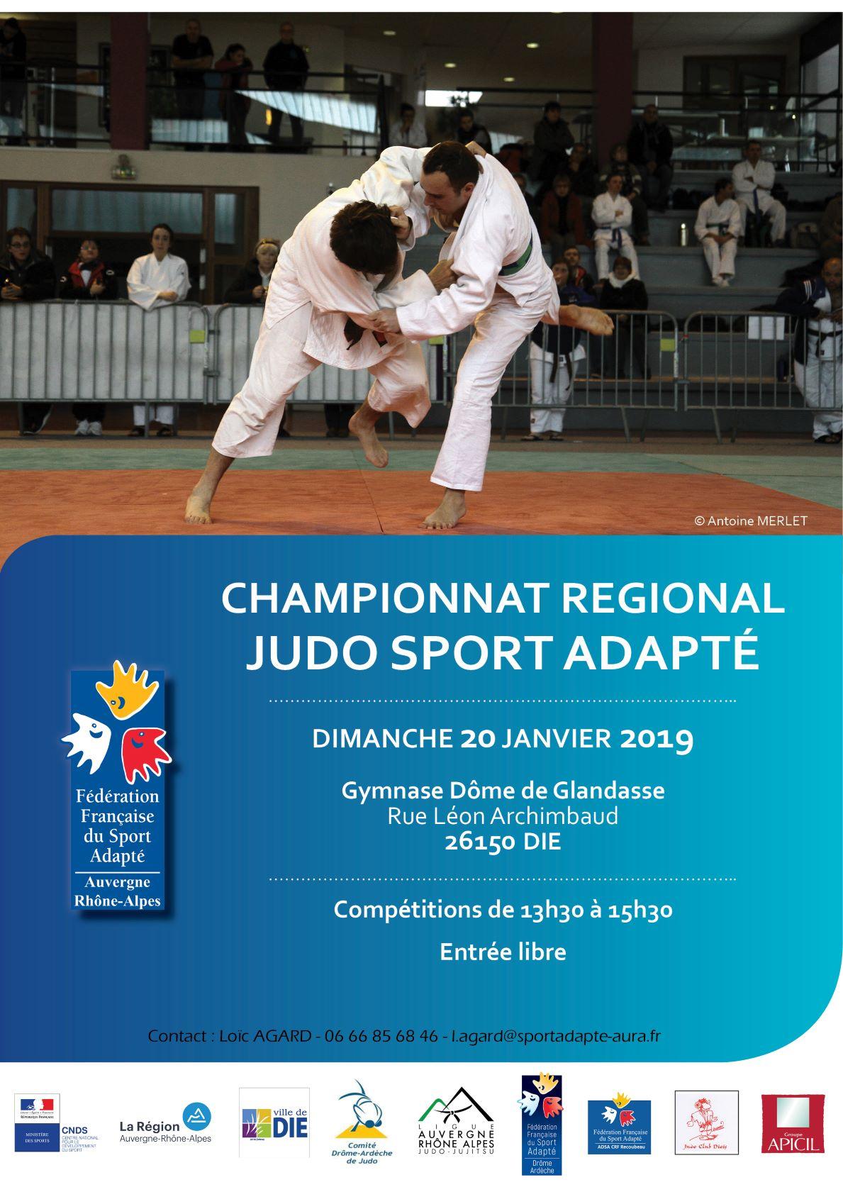 Affiche_CR Judo SA_20 janvier 2018