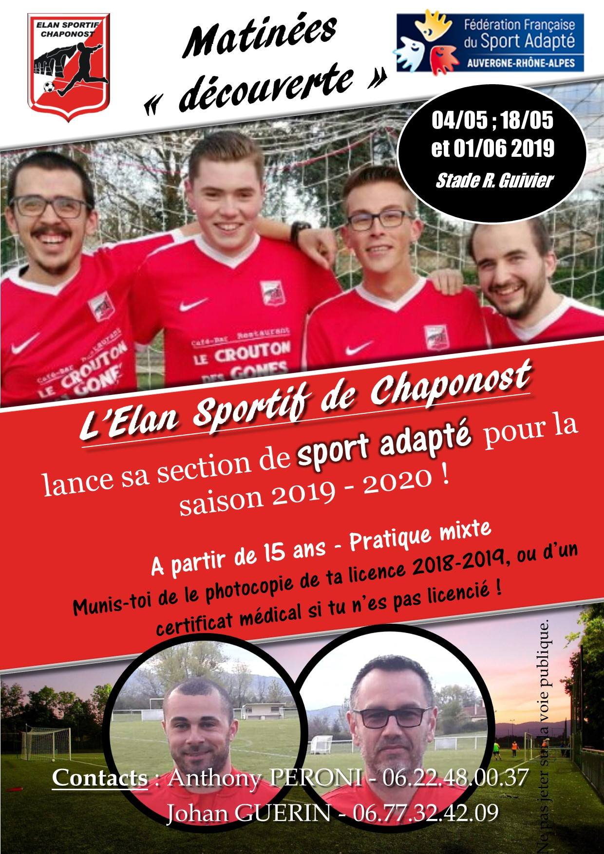 Elan Chaponost - section Sport Adapté