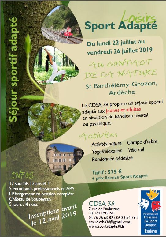 Flyer_séjour adapté-au contact de la nature_CDSA 38 - juillet 2019