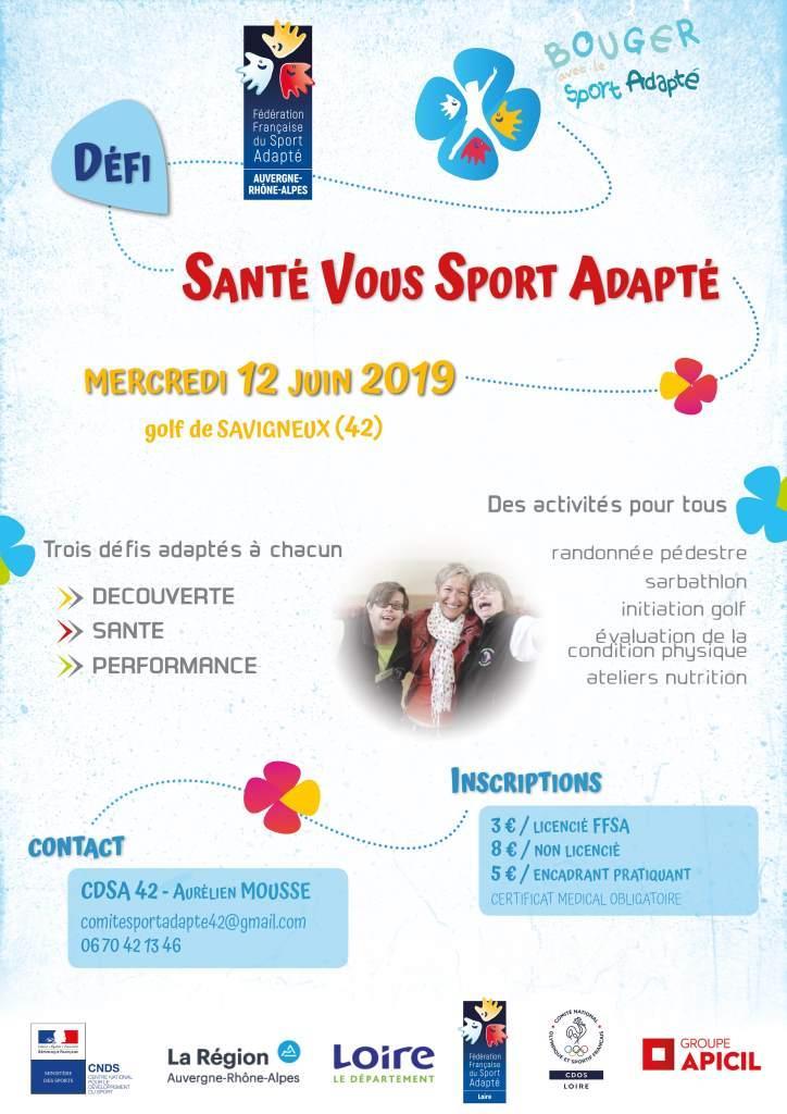Affiche_Santé Vous Sport Adapté_42-Loire_12 juin 2019