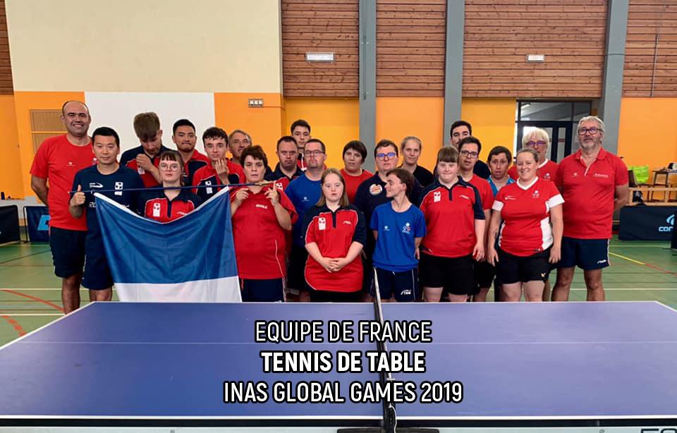 Equipe de France - Tennis de table - INAS Global Games